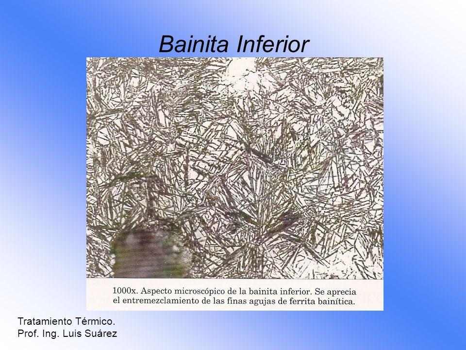 Bainita Inferior Tratamiento Térmico. Prof. Ing. Luis Suárez