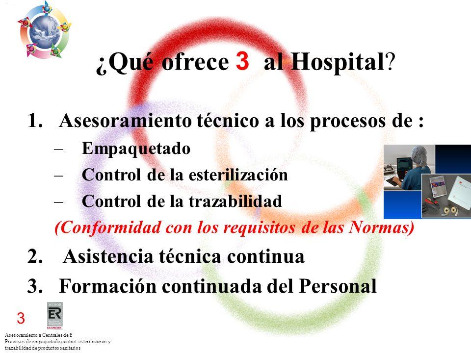 Asesoramiento a Centrales de Esterilización para los Procesos de empaquetado,control esterilización y trazabilidad de productos sanitarios 3 ¿Qué ofre