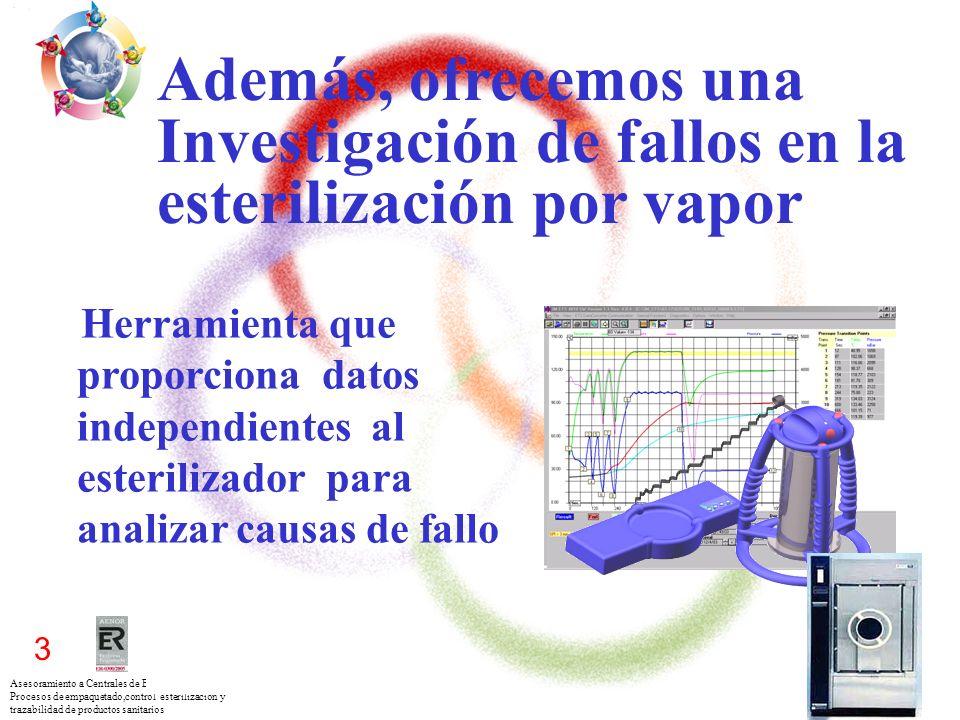 Asesoramiento a Centrales de Esterilización para los Procesos de empaquetado,control esterilización y trazabilidad de productos sanitarios 3 Además, o