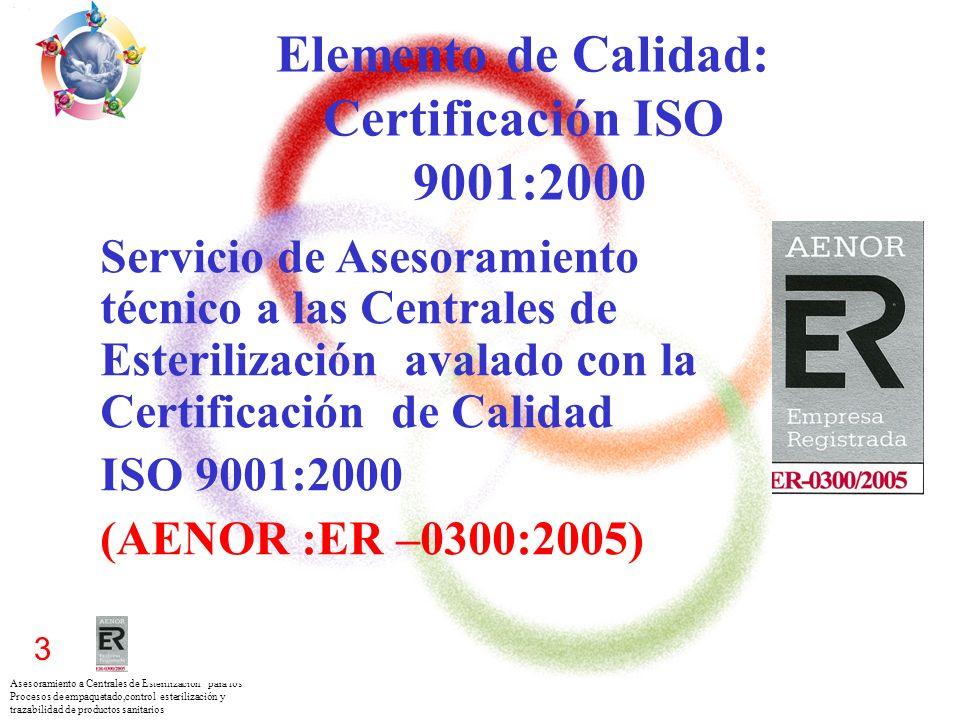 Asesoramiento a Centrales de Esterilización para los Procesos de empaquetado,control esterilización y trazabilidad de productos sanitarios 3 Elemento