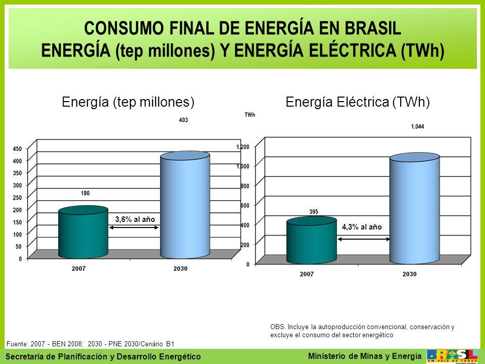 Secretaria de Planejamento e Desenvolvimento Energético - SPE Secretaria de Planificación y Desarrollo Energético Ministerio de Minas y Energía CONSUM