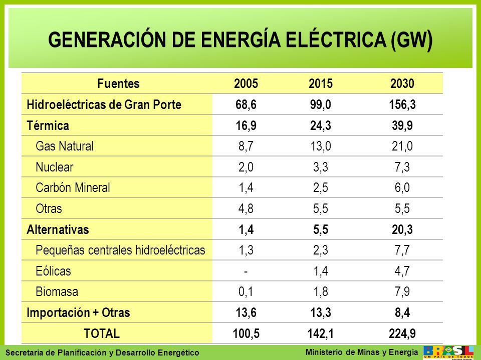 Secretaria de Planejamento e Desenvolvimento Energético - SPE Secretaria de Planificación y Desarrollo Energético Ministerio de Minas y Energía GENERA