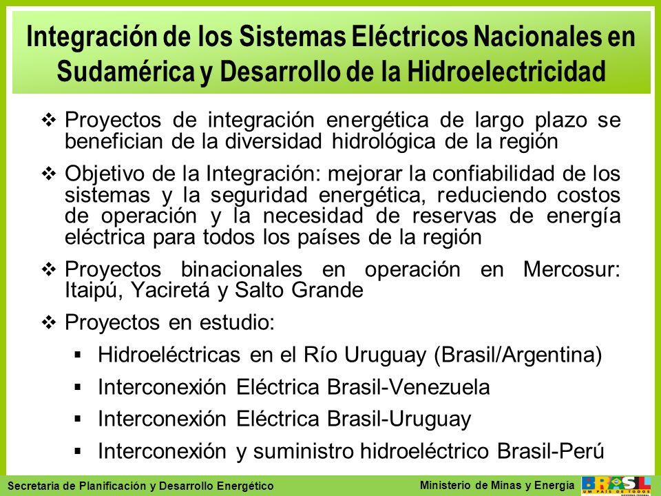 Secretaria de Planejamento e Desenvolvimento Energético - SPE Secretaria de Planificación y Desarrollo Energético Ministerio de Minas y Energía Integr
