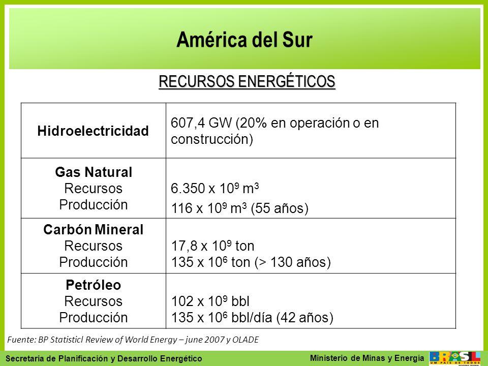Secretaria de Planejamento e Desenvolvimento Energético - SPE Secretaria de Planificación y Desarrollo Energético Ministerio de Minas y Energía Améric