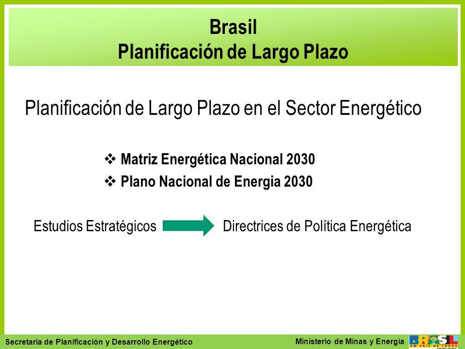 Secretaria de Planejamento e Desenvolvimento Energético - SPE Secretaria de Planificación y Desarrollo Energético Ministerio de Minas y Energía Brasil