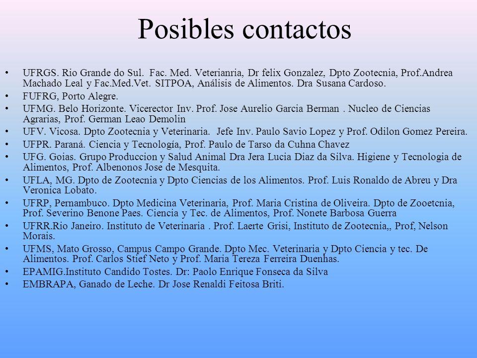 Posibles contactos UFRGS. Rio Grande do Sul. Fac.