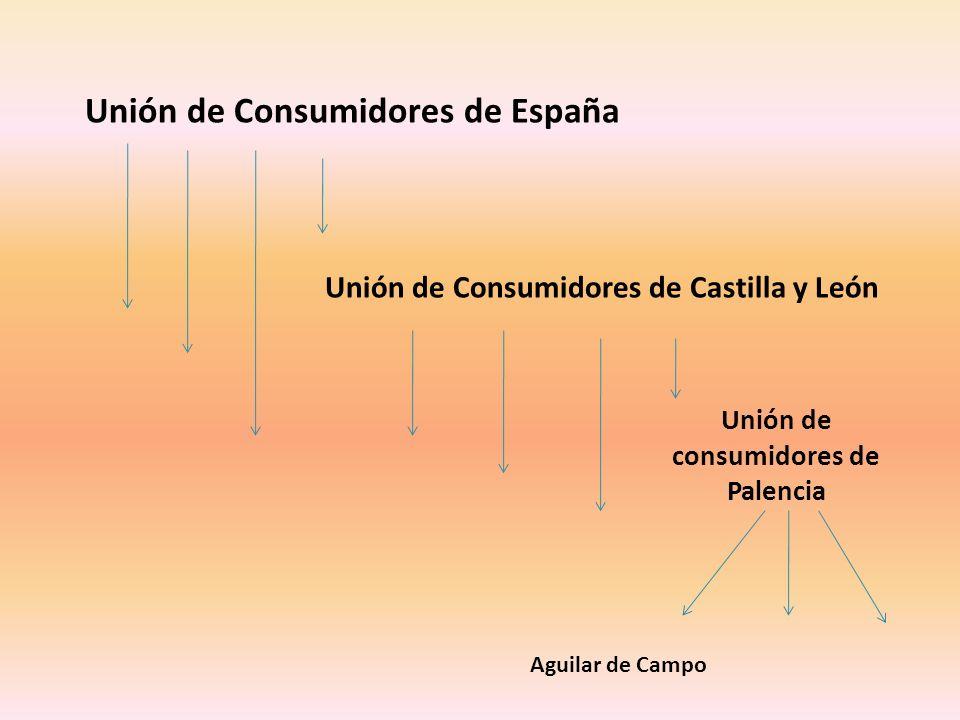 Unión de Consumidores de España Unión de Consumidores de Castilla y León Unión de consumidores de Palencia Aguilar de Campo
