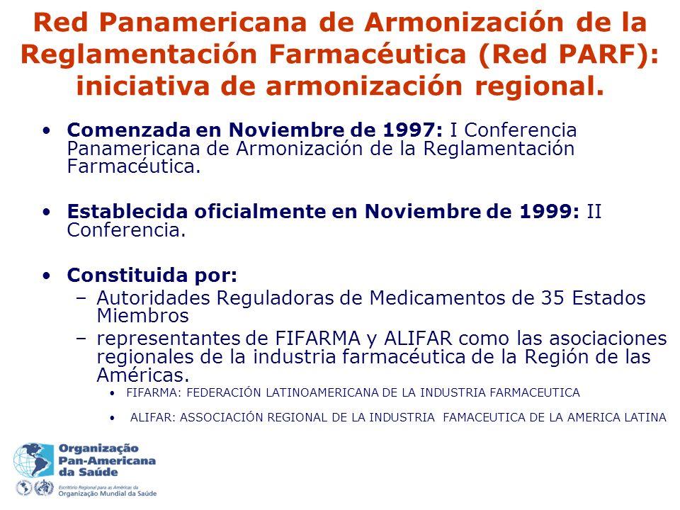 Red Panamericana de Armonización de la Reglamentación Farmacéutica (Red PARF): iniciativa de armonización regional.
