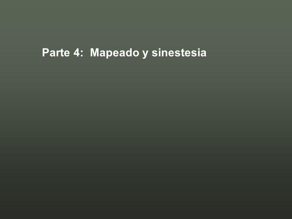 Parte 4: Mapeado y sinestesia