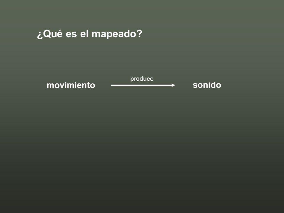 ¿Qué es el mapeado? movimiento sonido produce
