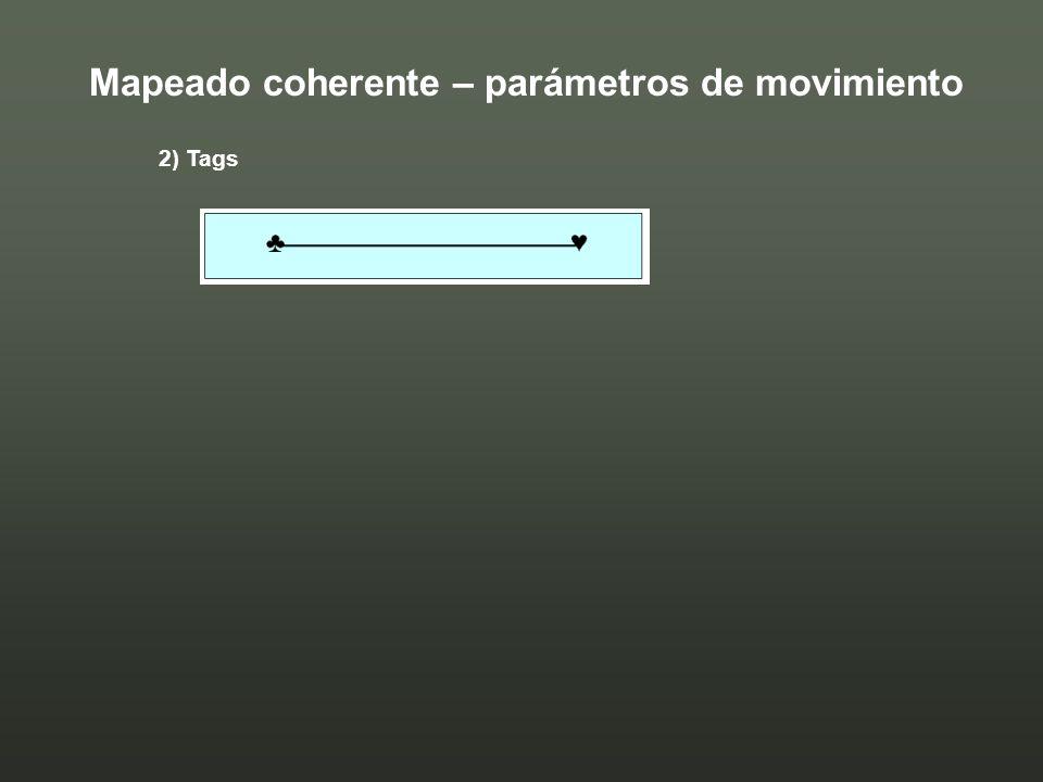 2) Tags Mapeado coherente – parámetros de movimiento