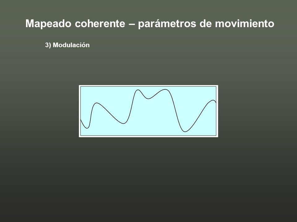 3) Modulación Mapeado coherente – parámetros de movimiento