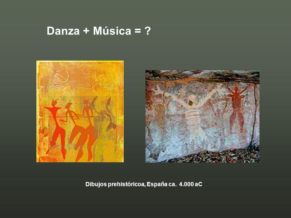 Danza + Música = ? Dibujos prehistóricoa, España ca. 4.000 aC