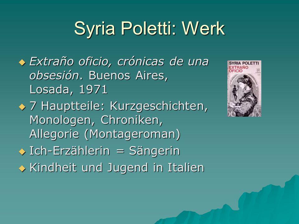 Syria Poletti: Werk Erzählungen: Erzählungen: Línea de fuego.