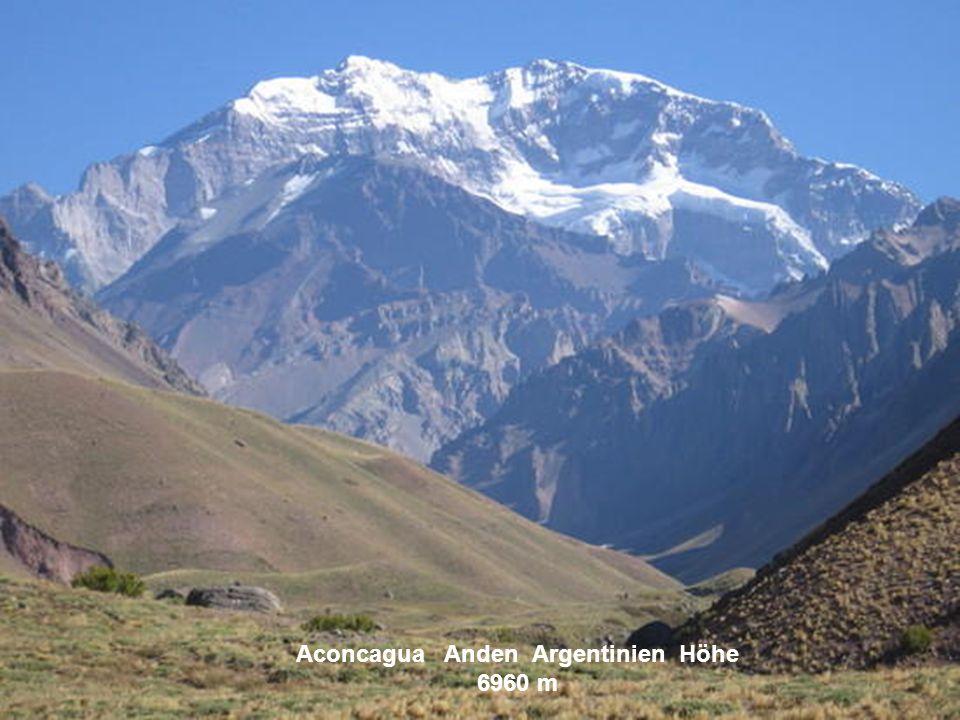 Illimani Bolivien Höhe 6462 m