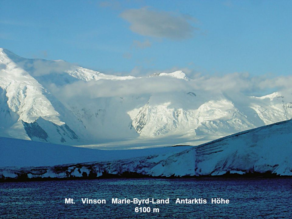 Mt. Kirkpatrick Transantarktisches Gebirge Höhe 4529 m