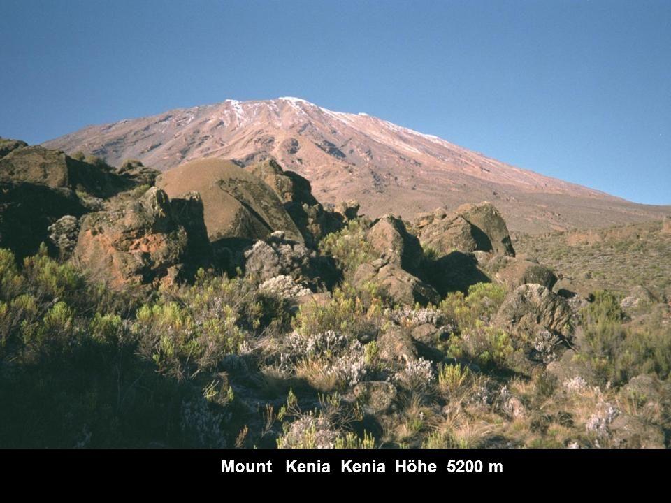 Kilimandscharo Tansania Höhe 5892 m