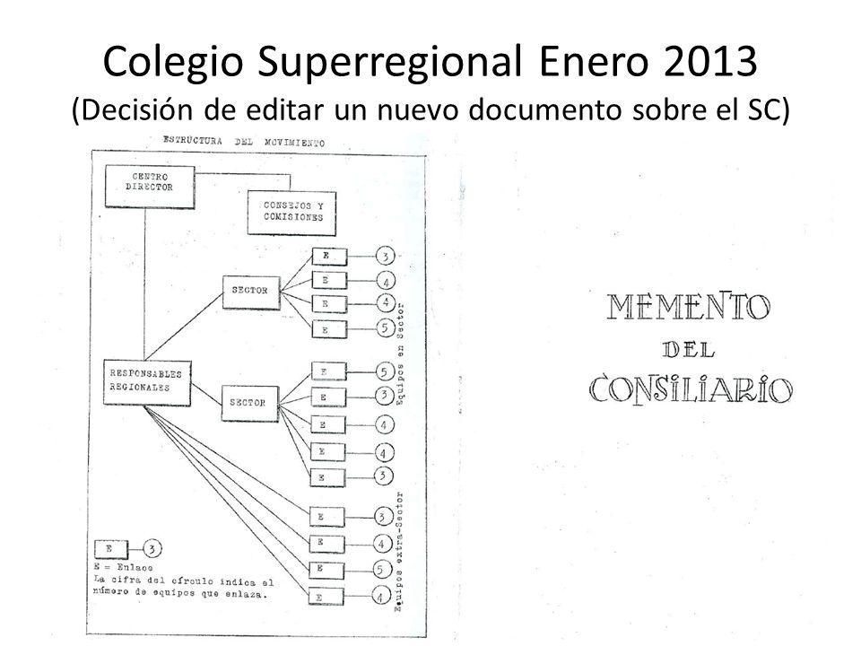 Colegio Superregional Enero 2013 (Decisión de editar un nuevo documento sobre el SC)