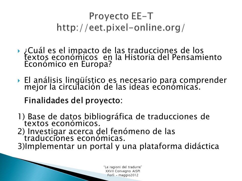 ¿Cuál es el impacto de las traducciones de los textos económicos en la Historia del Pensamiento Económico en Europa.