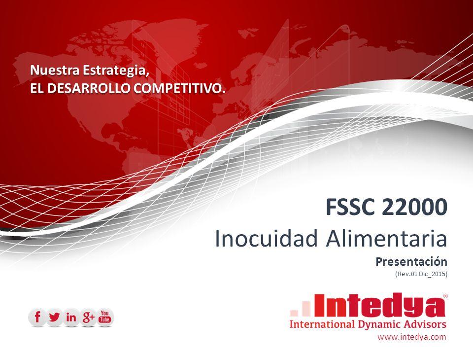 FSSC 22000 combina con notable eficacia tres características principales:  Un fuerte marco de sistemas de gestión totalmente integrado al sistema de gestión general de la compañía y coherente con otros aspectos o normas como ISO 9001 e ISO 14001;  Una metodología sólida de Análisis de Peligros y Gestión de Riesgos fundada en los principios de HACCP y la capacidad de mejorar la eficacia y la eficiencia de la inocuidad de los alimentos;  Una directriz detallada referente a los programas que sirven de prerrequisitos, conforme a lo solicitado por ISO 22000 § 7.2, y que se adaptan a las necesidades de diligencia obligatoria y cuestiones relacionadas de los minoristas.