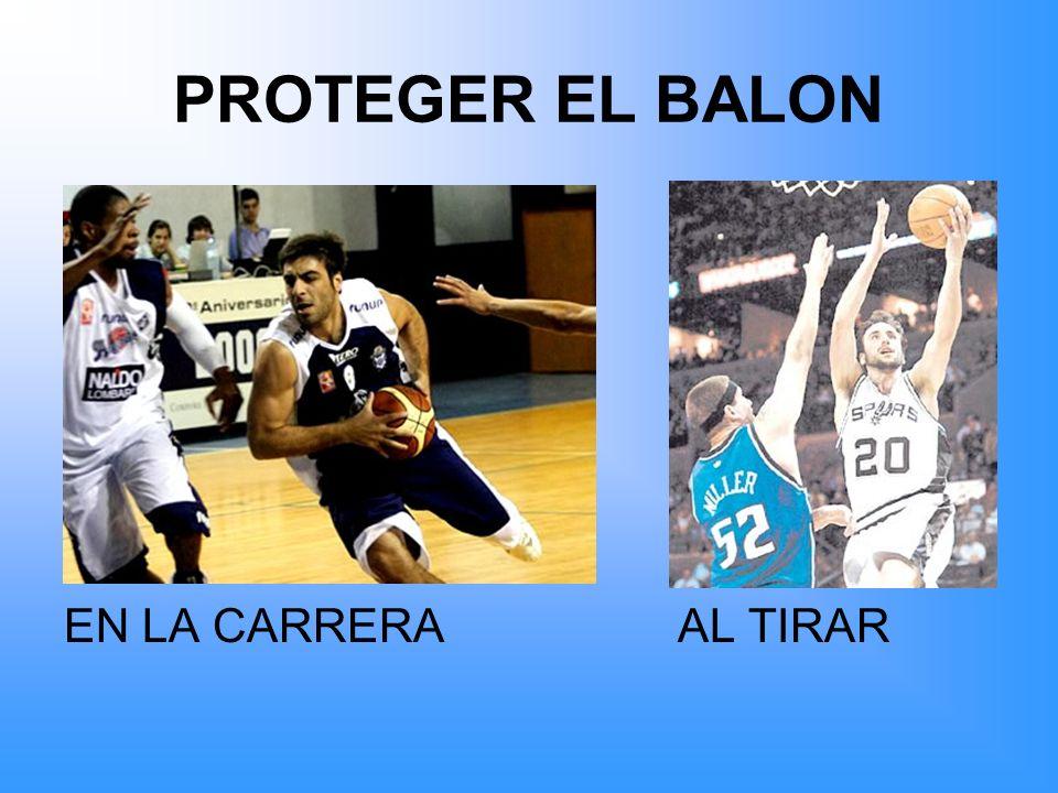 PROTEGER EL BALON EN LA CARRERA AL TIRAR