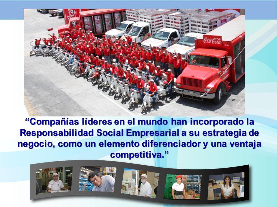 Compañías líderes en el mundo han incorporado la Responsabilidad Social Empresarial a su estrategia de negocio, como un elemento diferenciador y una ventaja competitiva.