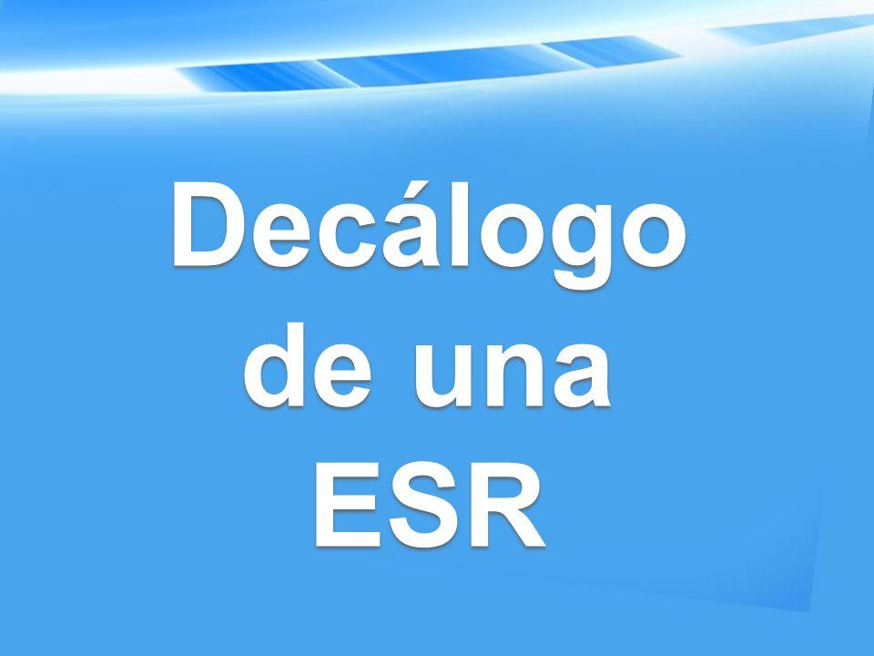 Decálogo de una ESR