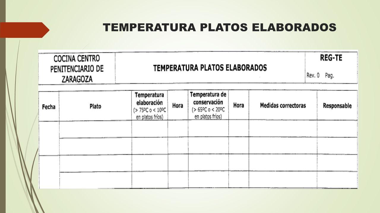 TEMPERATURA PLATOS ELABORADOS