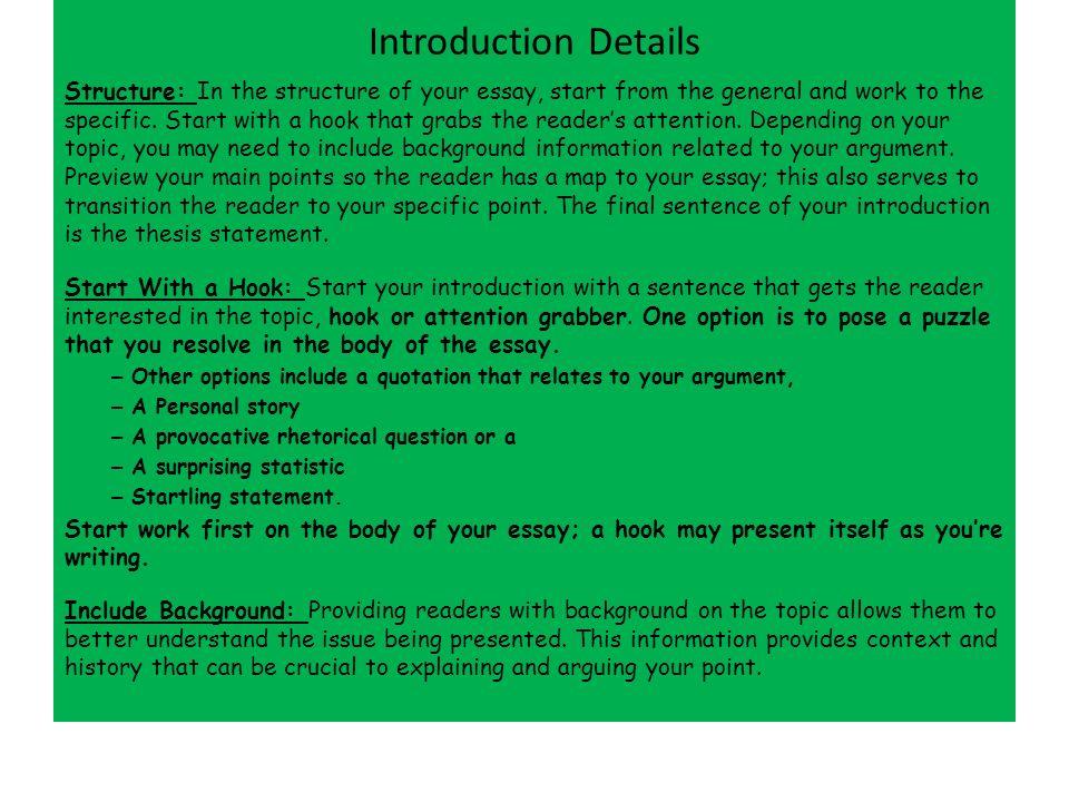 sentence structures essays