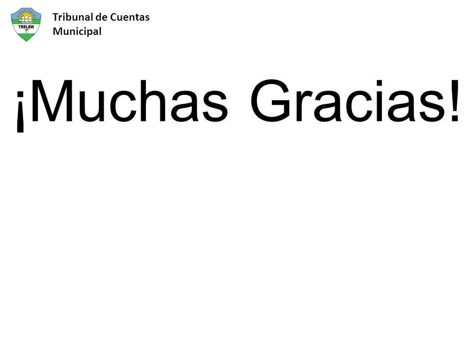 ¡Muchas Gracias! Tribunal de Cuentas Municipal