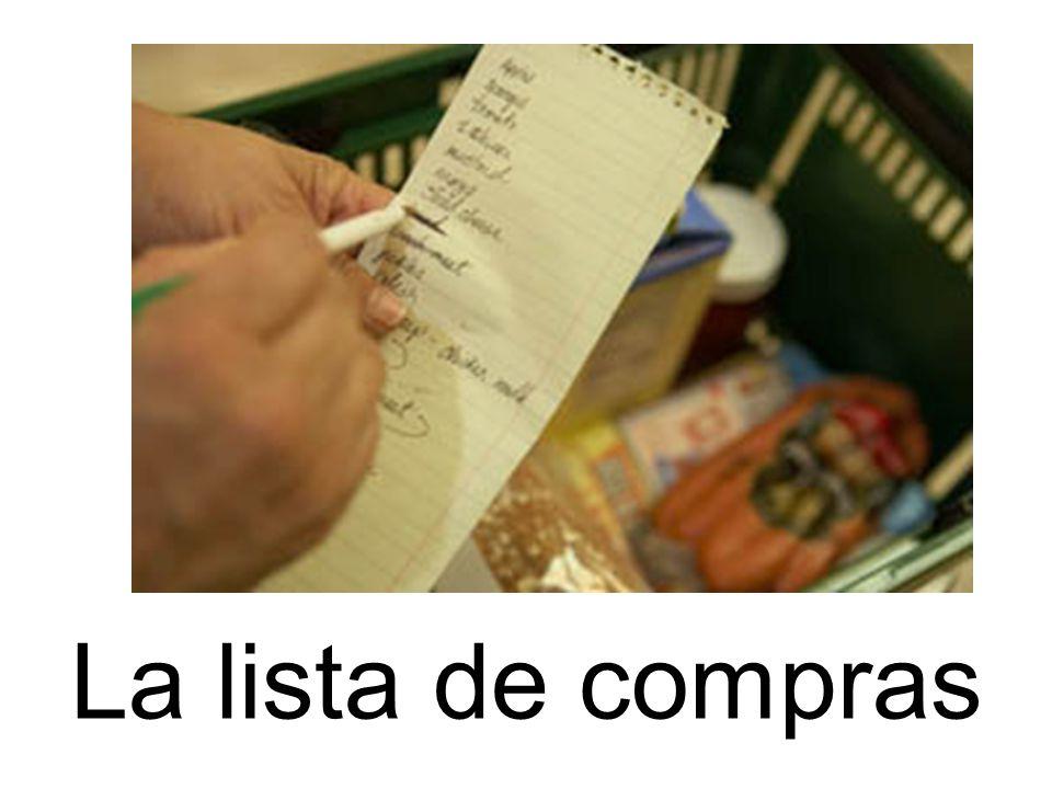 La lista de compras