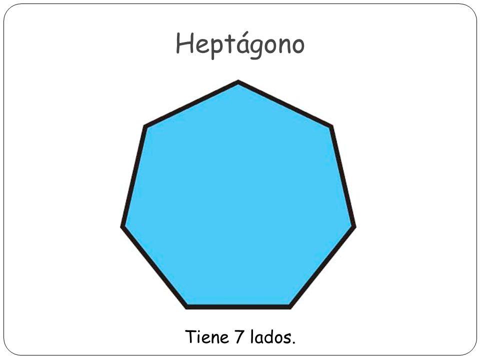 Octágono Tiene 8 lados.