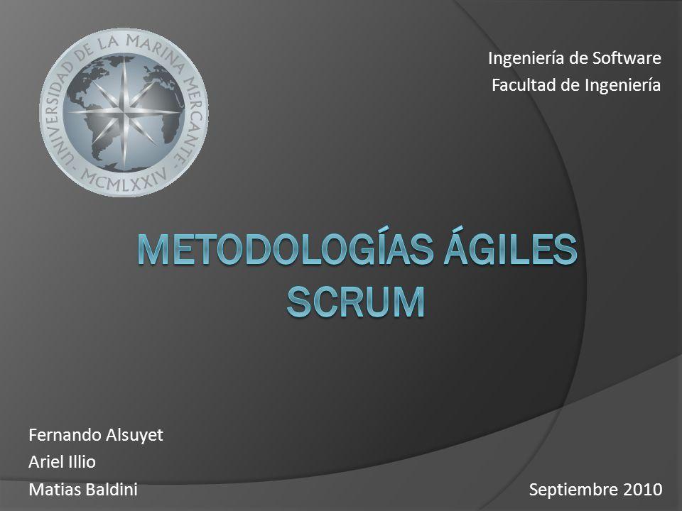 Ingeniería de Software Facultad de Ingeniería Septiembre 2010 Fernando Alsuyet Ariel Illio Matias Baldini