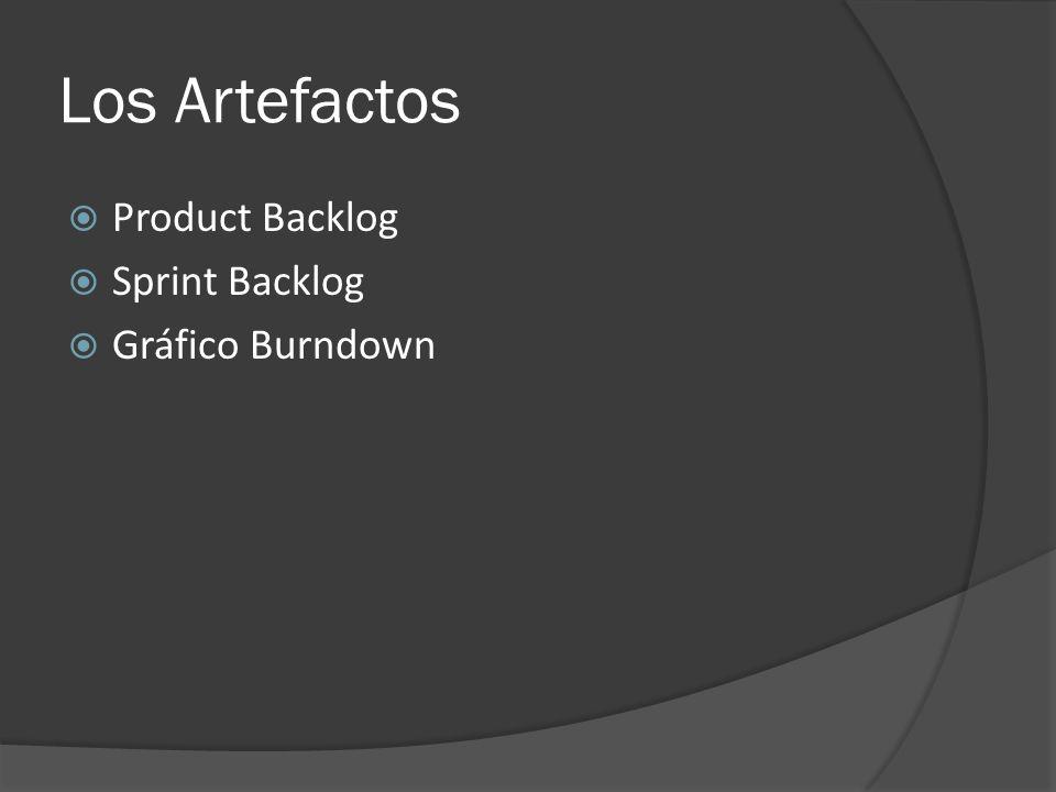 Los Artefactos  Product Backlog  Sprint Backlog  Gráfico Burndown