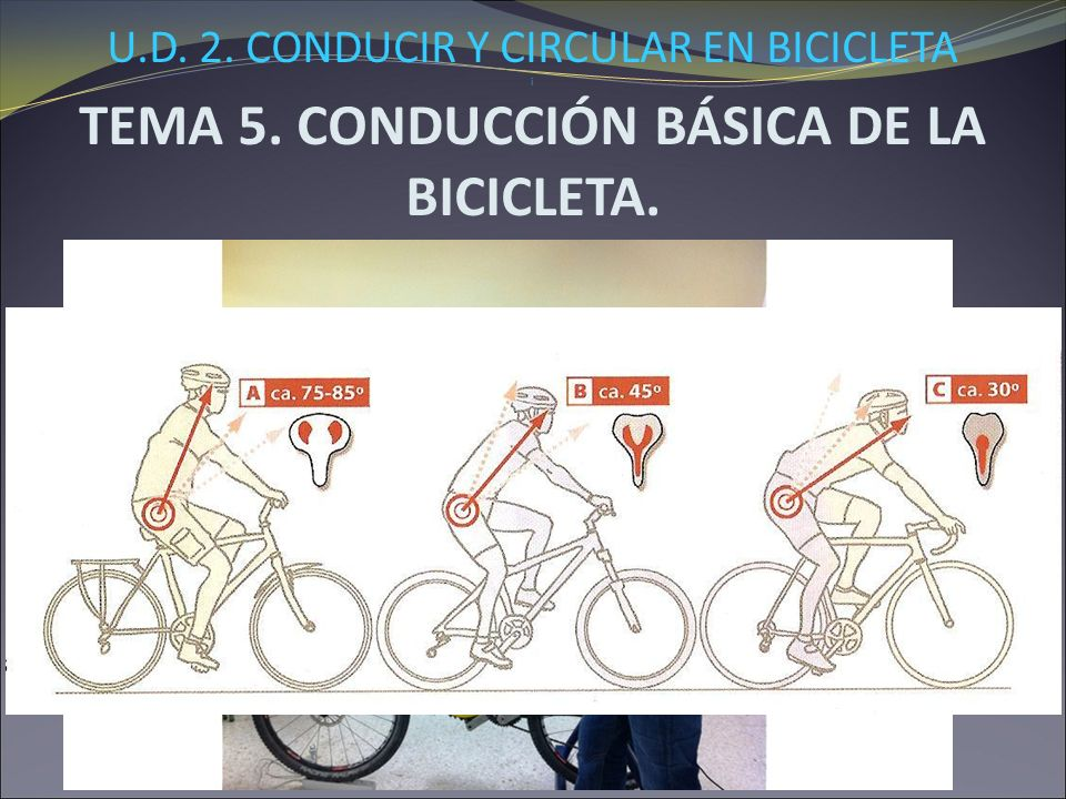 U.D. 2. CONDUCIR Y CIRCULAR EN BICICLETA i TEMA 5. CONDUCCIÓN BÁSICA DE LA BICICLETA. 5.6.- Conducción de la bici ante diferentes situaciones. TÉCNICA