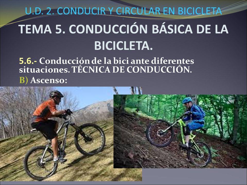 U.D.2. CONDUCIR Y CIRCULAR EN BICICLETA i TEMA 5.