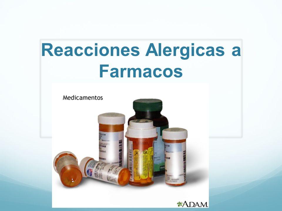 Reacciones Alergicas a Farmacos