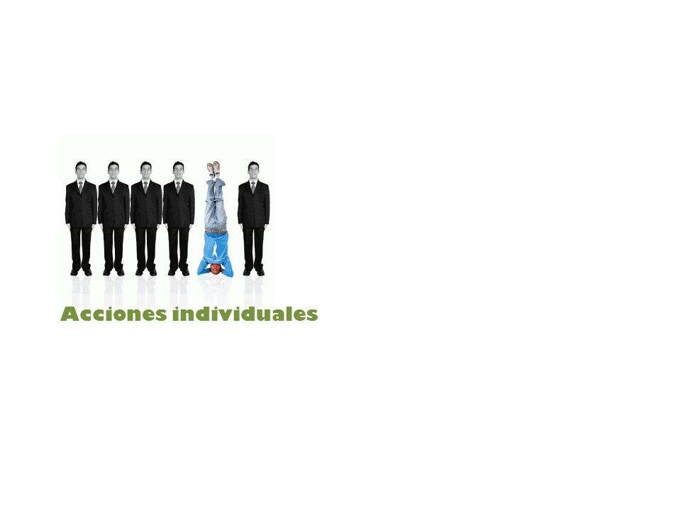 Acciones individuales