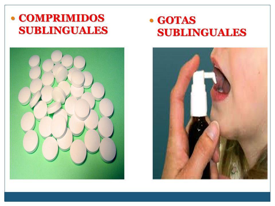 COMPRIMIDOS SUBLINGUALES COMPRIMIDOS SUBLINGUALES GOTAS SUBLINGUALES GOTAS SUBLINGUALES