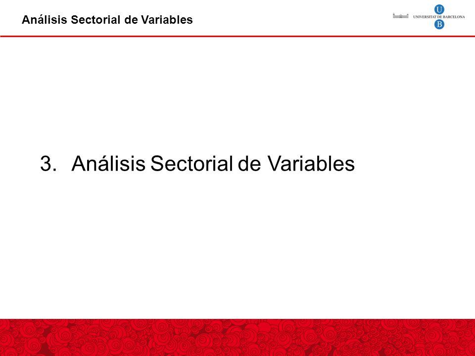 Análisis Sectorial de Variables 3.Análisis Sectorial de Variables