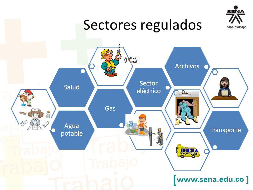 Sectores regulados Agua potable GasSalud Sector eléctrico ArchivosTransporte