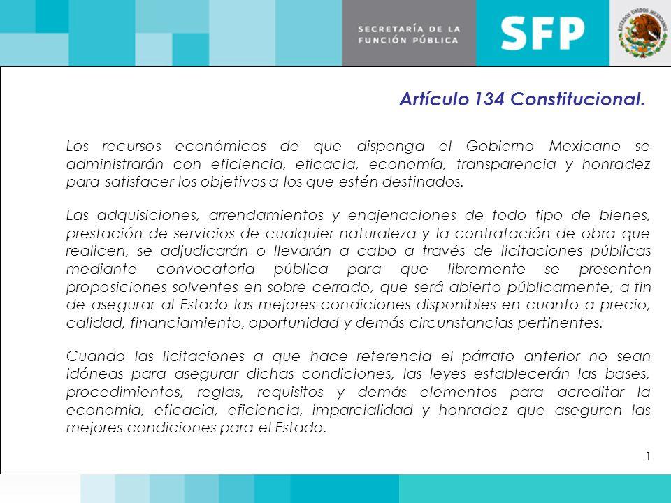 Los recursos económicos de que disponga el Gobierno Mexicano se administrarán con eficiencia, eficacia, economía, transparencia y honradez para satisf