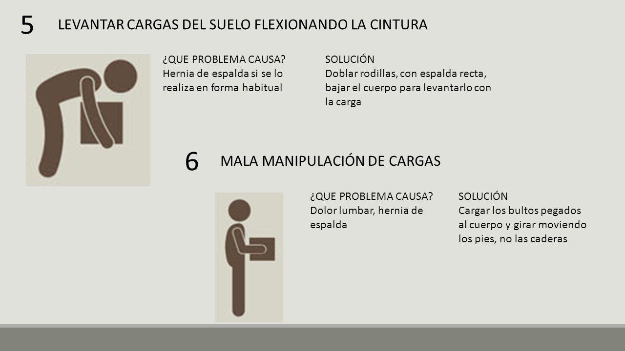 LEVANTAR CARGAS DEL SUELO FLEXIONANDO LA CINTURA ¿QUE PROBLEMA CAUSA.