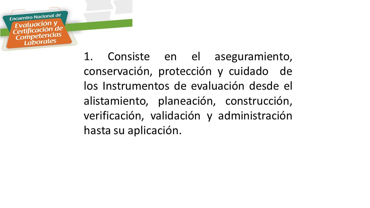 1. Cadena de Custodia