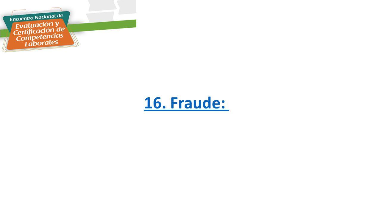 16. Fraude: