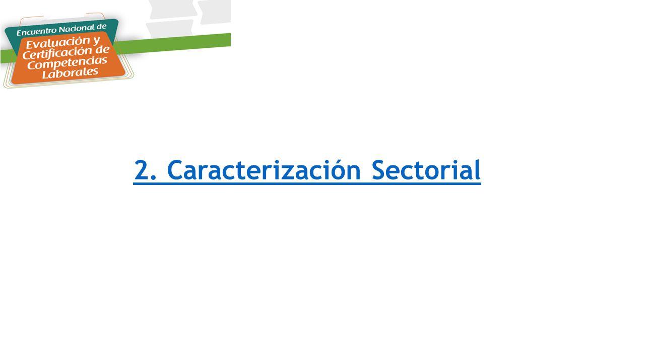 2. Caracterización Sectorial