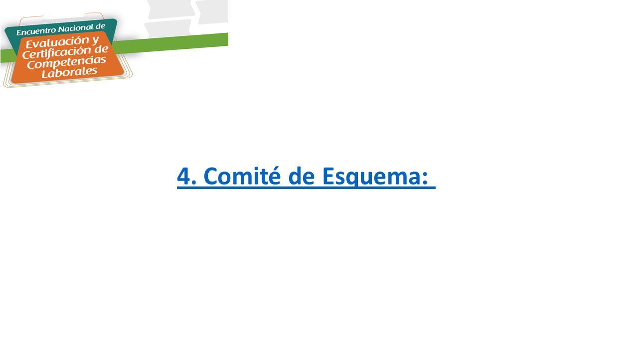 4. Comité de Esquema: