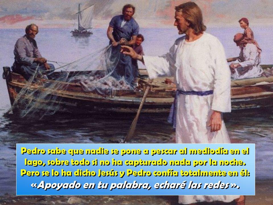 Pedro sabe que nadie se pone a pescar al mediodía en el lago, sobre todo si no ha capturado nada por la noche.