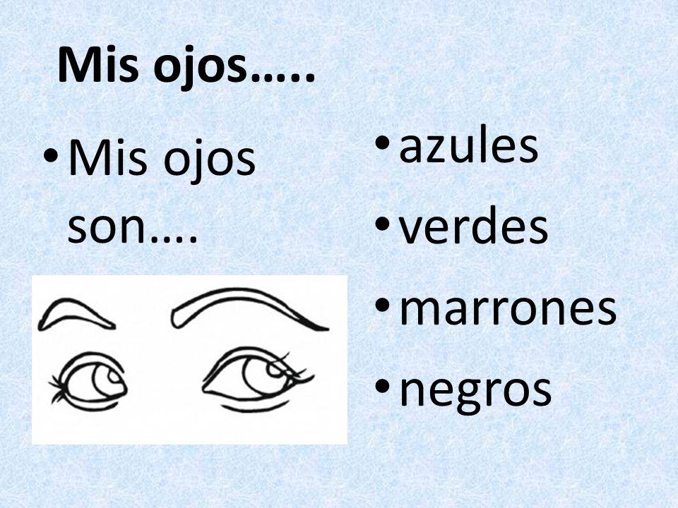 Mis ojos….. Mis ojos son…. azules verdes marrones negros