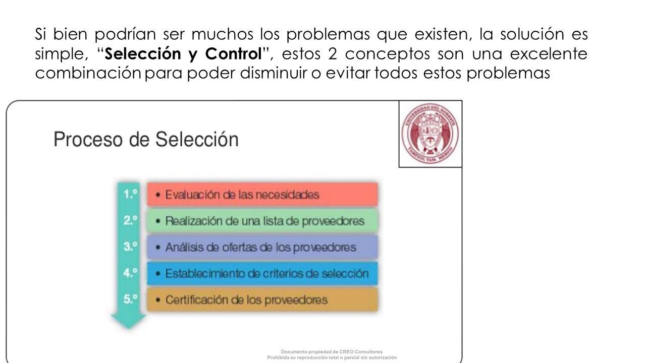 """Si bien podrían ser muchos los problemas que existen, la solución es simple, """" Selección y Control """", estos 2 conceptos son una excelente combinación"""